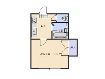 米沢市通町の学生向け賃貸アパート1K|エメラルドグリーン、ハローオレンヂ