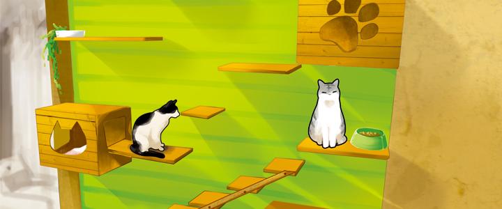 ペット用リノベーション猫階段 - オーダーメイド賃貸郡山