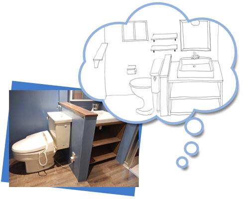 リフォーム業者になかなか伝わらなかったトイレの完成イメージですが、S様のスケッチがあったからなるほど!と納得。