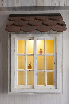 照明付き出窓風収納で北欧感アップ!