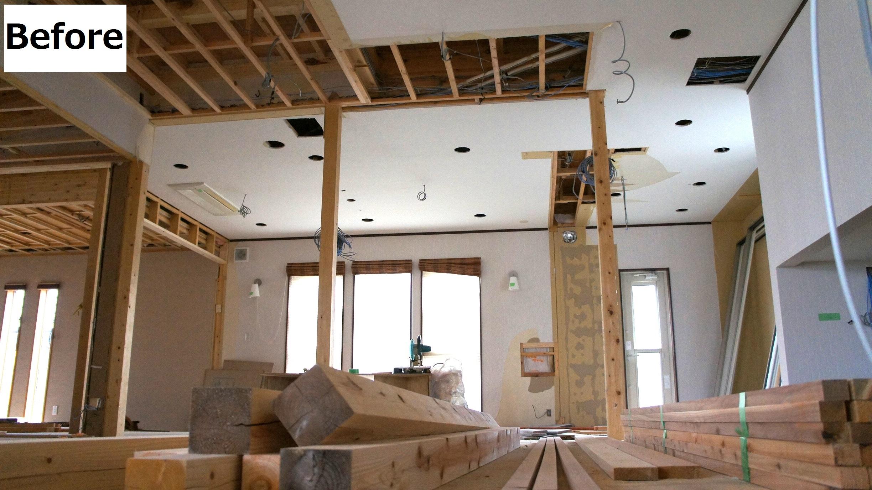 天井もリフォーム!事務所に向けて着々と進んでます。