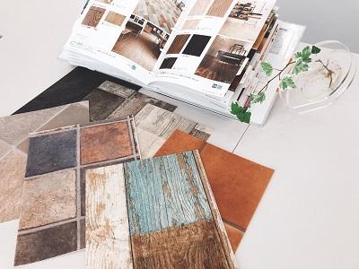 店舗用の床材サンプル
