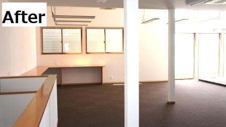 2F事務所、広々とした空間に