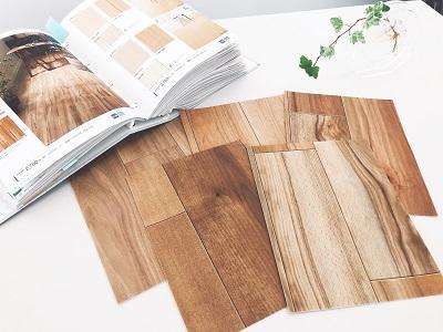 色薄めの床材サンプル
