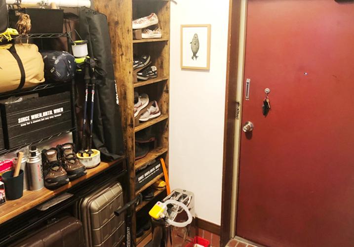 レトロマンションのリノベーションお引き渡し後 玄関