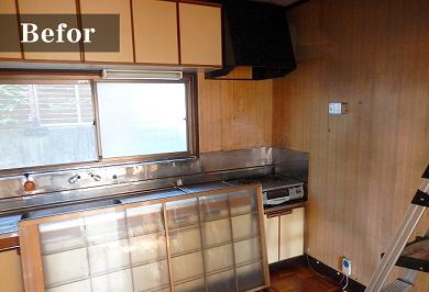 カウンター設置前のキッチン