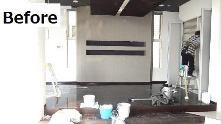 キッチンスペース、ワンフロア事務所に向けてリフォーム中