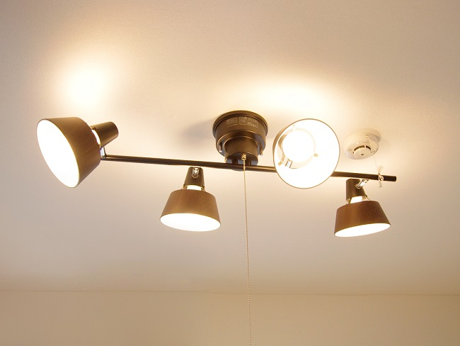 福島県郡山のヒロハイツ101号室 照明