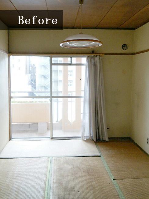 リフォーム前のリビングは昔ながらの和室でした。
