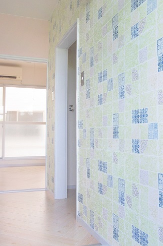 福島県郡山のヒロハイツ101号室 こだわりの壁紙